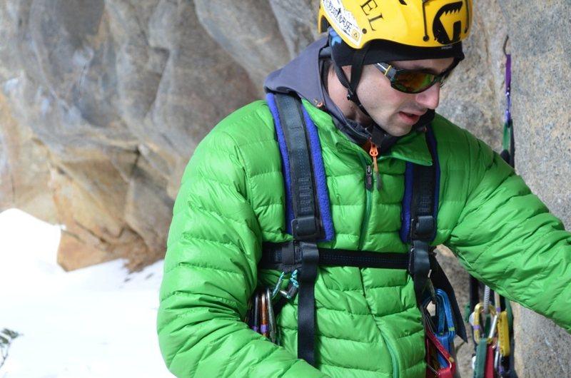 Rock Climbing Photo: winter aid climbing