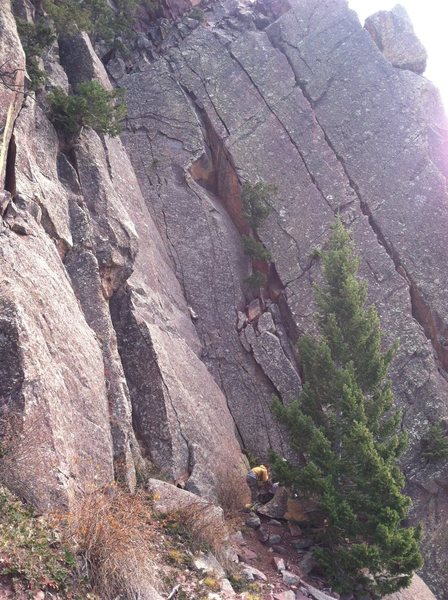 "Rock Climbing Photo: Dihedral to the left is ""Let It Vee."" Wi..."