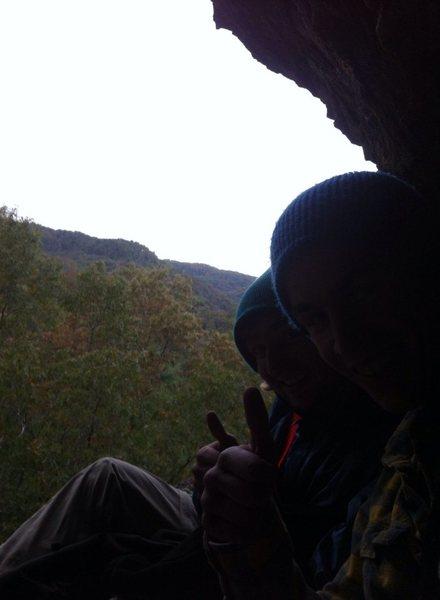 Rock Climbing Photo: Resting on a ledge, enjoying the view
