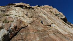 Rock Climbing Photo: Climber in the center of the photo on Snakes in th...