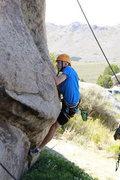 Rock Climbing Photo: Drew climbing at Practice Wall