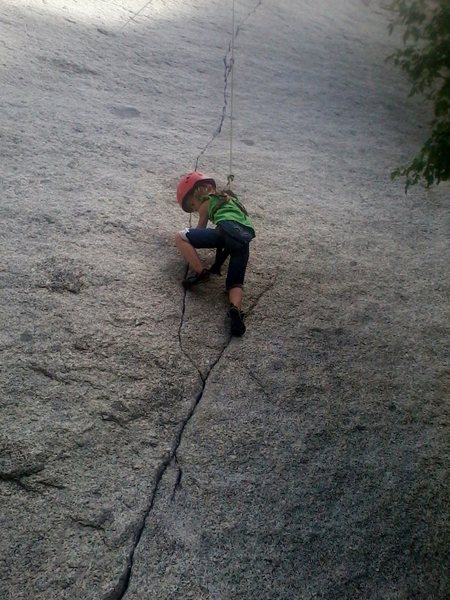 My 5 yr old cruising up Green A (LCC, UT)