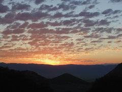 Rock Climbing Photo: Beautiful sunrise