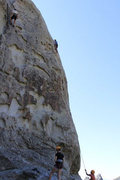 Rock Climbing Photo: Dude Tring Scream Cheese