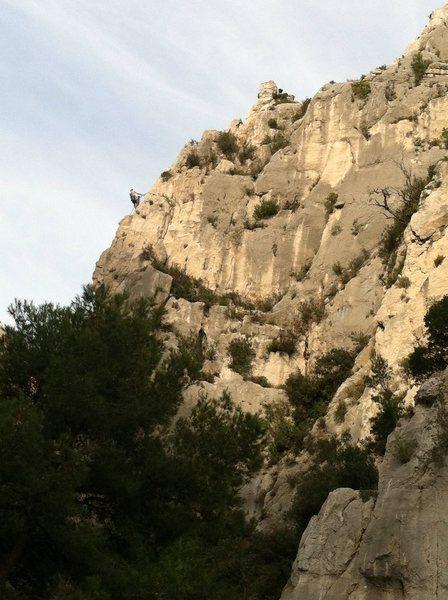 The Saphir ridgeline, as seen from the beach at En Vau.