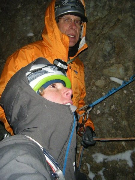 Rock Climbing Photo: Top of pitch five. Nov. 3, 2013. Next three pitche...