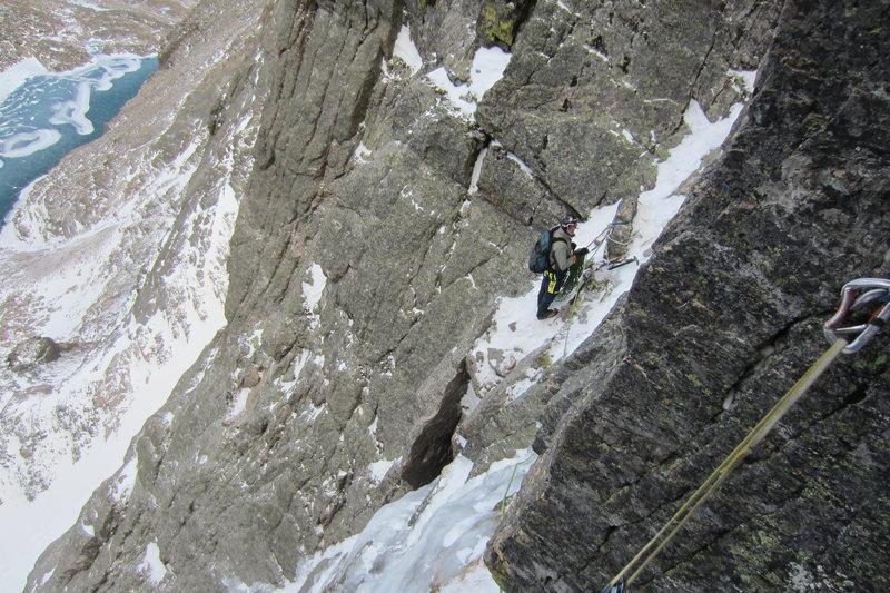 Rock Climbing Photo: Looking down Alexander's.