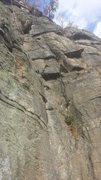 Rock Climbing Photo: Johnson Route, between Rachel's Crack (rope) and O...