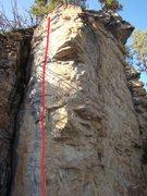 Rock Climbing Photo: Glacial Facial, 5.11a Ice Box, Spearfish Canyon. S...