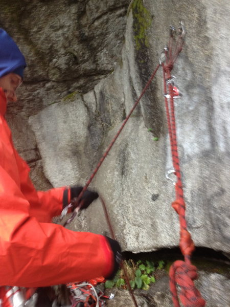 3:1 with redirect and munter at harness ... belayer using body weight