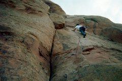Rock Climbing Photo: Jonah Wilkey on the third pitch.