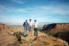 Rock Climbing Photo: George Wilkey, Steven Corr, Jonah Wilkey on the su...