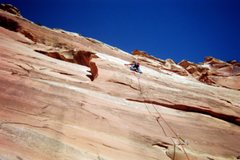 Rock Climbing Photo: Jonah Wilkey leading Circle, Square, and the Trian...