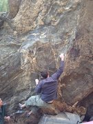 Second move to the right of the starting crimps.