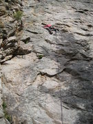 Rock Climbing Photo: Upper section of Grave Line.