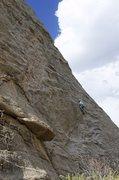 Rock Climbing Photo: Angus following Cheryl's Peril.