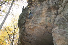 Rock Climbing Photo: Following the first pitch of Dizzy (5.8 variation)...