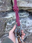 Rock Climbing Photo: Belay Anchor halfway up