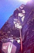Rock Climbing Photo: Paul Gleason - higher on the 'Flakes' 1972.