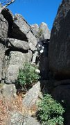 Rock Climbing Photo: Scrambling Down to Beginner's Crack from the summi...