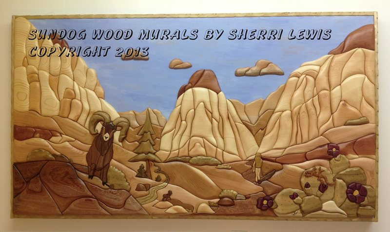 Pine Creek mural (on display at Red Rock Sports, Las Vegas)
