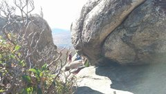 Rock Climbing Photo: At the summit, find these two boulders.  The left ...