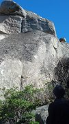 Rock Climbing Photo: After a downward scramble between two boulders and...
