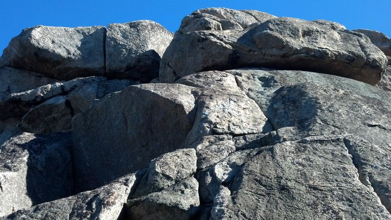 Facing Summit Crag, looking up.