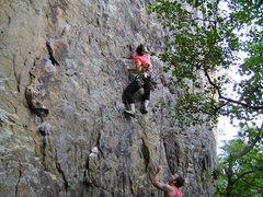 Rock Climbing Photo: My friend, Beth, top roping Mammplitude