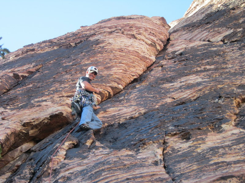 Rock Climbing Photo: Starting the 4th Pitch of Myster Z. Juniper Canyon...