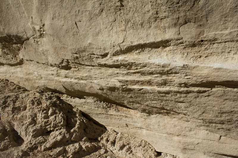 Rock Climbing Photo: The start holds to The Rockshop Traverse, on the f...