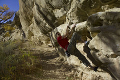 Rock Climbing Photo: The end of the 2nd crux.