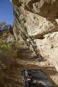 Rock Climbing Photo: The first 70 feet.