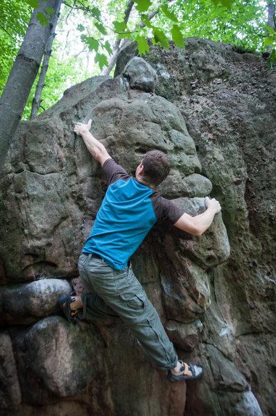 Rock Climbing Photo: Top Out.
