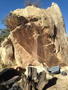 Rock Climbing Photo: South face of Hammer Sickle Block and Commie Joe's...