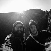 Rock Climbing Photo: Me and Pasha on Reveil Matin in Chongkurchak, Kyrg...