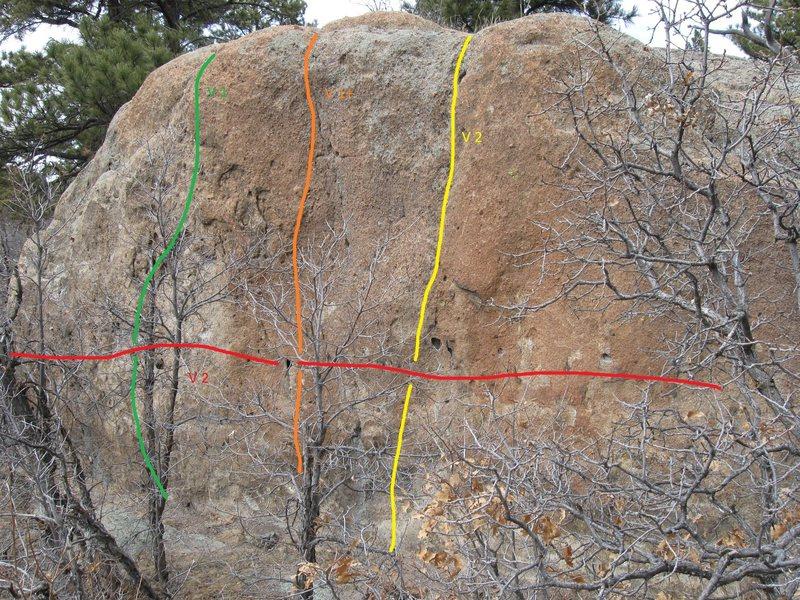Rock Climbing Photo: Morning Wood Boulder.
