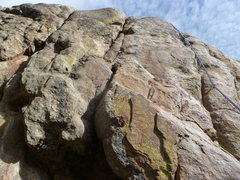 Rock Climbing Photo: The climb in in the center, not where the rope is.