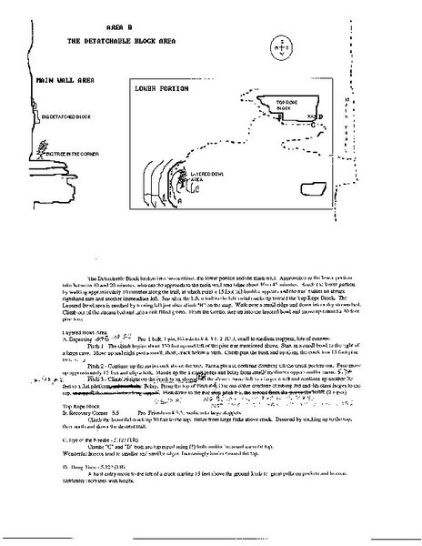 """Attached is an area overview of what we called """"Detachable Block Area"""" which includes Eye of the Needle and Expecting."""