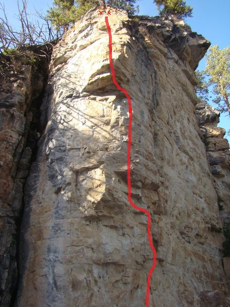 Reaching The Melting Point, 5.12b<br> Classic, cold weather climbing at Ice Box, Spearfish Canyon, South Dakota.