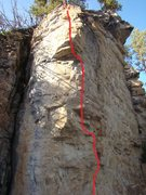 Rock Climbing Photo: Reaching The Melting Point, 5.12b Classic, cold we...