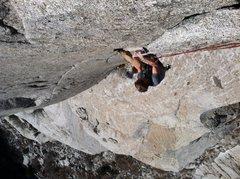 Rock Climbing Photo: Nate lie backing to glory