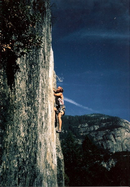 Rock Climbing Photo: Me, leading this, years ago