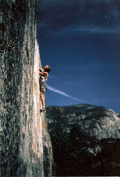 Rock Climbing Photo: A little higher ...