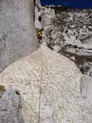 Rock Climbing Photo: The big sloping exposed traverse ledge from wild t...