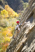 Rock Climbing Photo: With beautiful Fall colors and perfect Fall temps,...