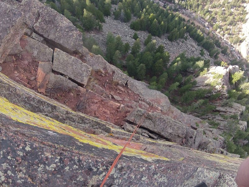 Rock Climbing Photo: Heavy Weather ledge after cleanup.