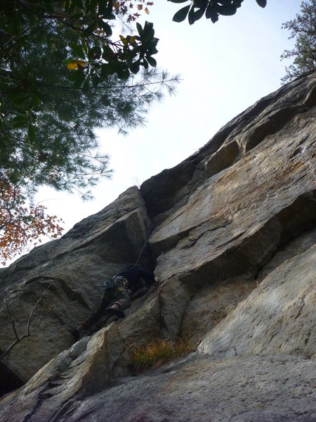 Rock Climbing Photo: The alcove of Climb and Punishment. The left-most ...