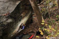 Rock Climbing Photo: Spencer B on Pit BBQ.