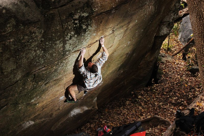 Rock Climbing Photo: Tim on Pit BBQ